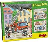HABA-304219-Puzzles Vehículos de Intervención puzle Infantil, Multicolor (304218)