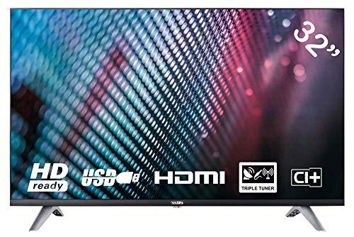 YASIN YT32HTB1 80 cm (32 Zoll) LED Fernseher (HD, Triple Tuner, CI+, 2X HDMI, Mediaplayer USB 2.0) [Energieklasse A]