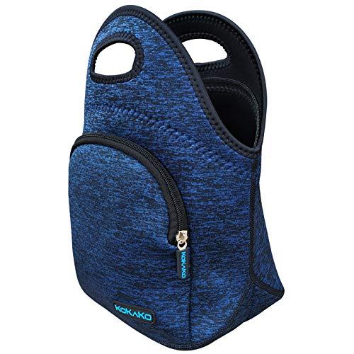 Kokako Lunchboxen, Neopren, klein, waschbar, isoliert, wasserdicht, für Herren, Damen, Kinder, dunkelblau + Packung