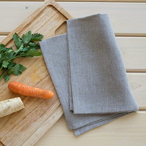 2 Canovacci lino - strofinacci lino - strofinacci da cucina in lino - asciugapiatti lino - Naturale