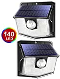 140 LED Solar Lights Outdoor, Mpow Motion Sensor Security Light with 3 Lighting Modes, 270°Wide Angle, IPX7...