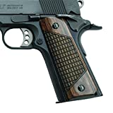 Altamont 1911 Grips - Classic Panel - Full Size 1911 Real Wood Gun Grips w. Ambi Safety fits Most Commander, Standard & Government 1911 Models - Made in USA (CR Walnut)