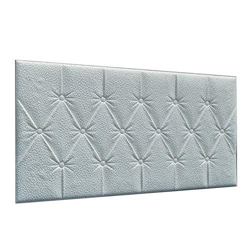Topxingch - Papel de pared 3D de espuma de polietileno anticolisión, para sala de estar, dormitorio, restaurante, cubierta de polvo, fondo para pared, papel de pared, decoración del hogar, color blanco leche