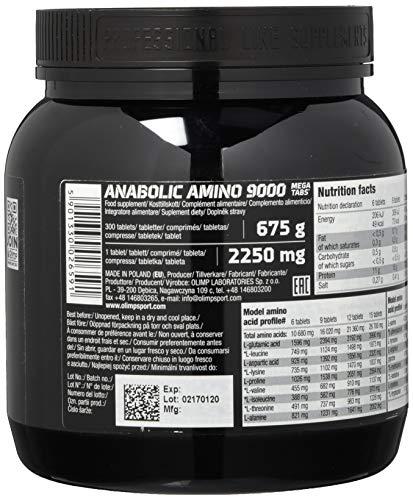 Olimp Anabolic Amino 9000 Mega Tabs , 300 Tabletten, 1er Pack (1 x 675 g Dose) - 2
