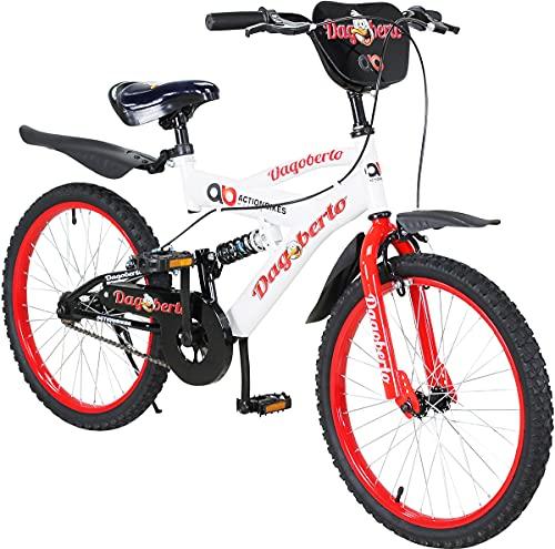 Actionbikes Kinderfahrrad Dagoberto - 20 Zoll - V-Break Bremse vorne - Seitenständer - Luftbereifung - Ab 4-9 Jahren - Jungen & Mädchen - Kinder Fahrrad - Laufrad - BMX - Kinderrad (20`Zoll)