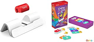 Osmo - New Base for iPad - 2 Hands-On Learning Games + Coding Jam Game Bundle (Ages 5-12) iPad Base Included