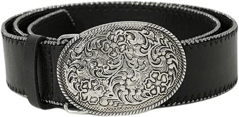 Shuuk Oval Statement Western-Style Belt Buckle Metal Finally popular brand Eco-Leather Sale price