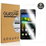 Owbb [2 Pack] Pellicola Vetro Temperato per Huawei G Play Mini, Glass Screen Pellicola Protettiva 9H Durezza 99% Alta Trasparente 0.26mm per Huawei G Play Mini
