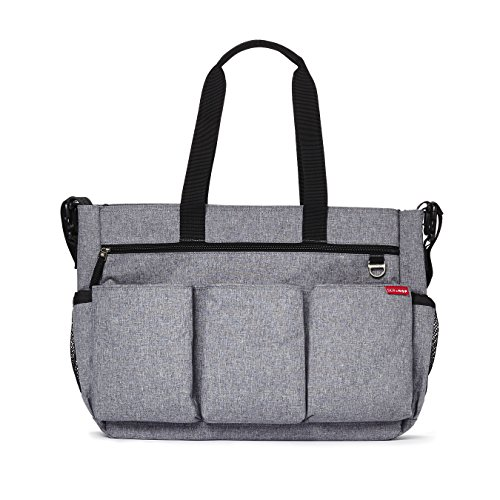 Skip Hop Diaper Bag Tote for Double Strollers with Matching Changing Pad, Duo Signature,...