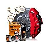 Foliatec Bremssattel Lack Set, Hitzebeständig, Komplettsatz für 4 Bremssättel, Racing Rosso, 7-teiliges Set