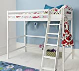 Noa and Nani - Texas High Sleeper Kids Cabin Bed - (White)