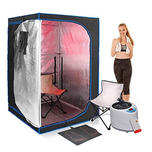 AIMCAE Caja de sauna para casa, plegable, para spa facial, terapia corporal, con mando a distancia, silla plegable