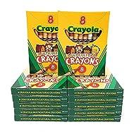 Crayola Multi-Cultural Crayons, Regular, Assorted Skin Tone Colors, 12 Pack
