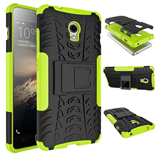 tinyue® Handyhülle für Lenovo Vibe P1 Hülle,Hyun-Muster mit Ständerprotektor PC+TPU Doppelstoßstange Anti-Kratz-Handyhülle Handykasten im Freien, Grün