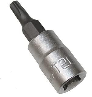 AERZETIX: Llave de vaso con puntas para tornillos Torx T20 1/4