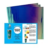 Craftables Blue Iridescent Craft Vinyl for Cricut and Silhouette, Cameo - Opal Holographic Vinyl - (3) 12' x 12' Sheets