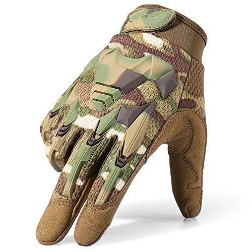 XYBB Gants Tactique Militaire de l'armée de tir Paintball Airsoft Combat vélo en Caoutchouc de Protection Anti-Skid Gants Hommes Femmes (Color : CP, Gloves Size : X-Large(23cm 24cm))