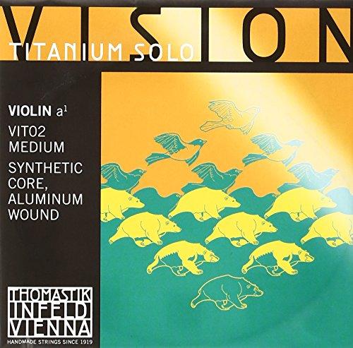 Thomastik-Infeld VIT02 Saiten für Violine Vision Titanium Solo A mittel (4/4 Geige)