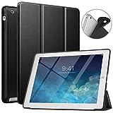 MoKo Funda Compatible con iPad 2/3/4, Superior Delgada Protectora Case con Tapa Trasera Esmerilada Translúcida Compatible con iPad 2/The New iPad 3 (3rd Gen)/iPad 4 - Negro