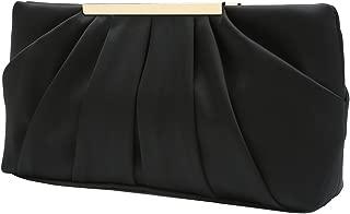 Clutch Evening Bag Elegant Pleated Satin Formal Handbag Simple Classy Purse for Women
