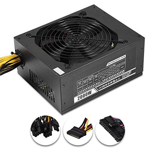 nlgzklsh 2000W Modular Mining Netzteil Netzteil für 8 GPU ETH Rig Ethereum Miner