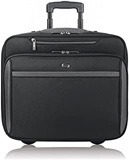 Solo New York Westside Rolling Overnight Laptop Bag. Slim, Compact Design Rolling Overnighter Case for Women and Men. Fits...