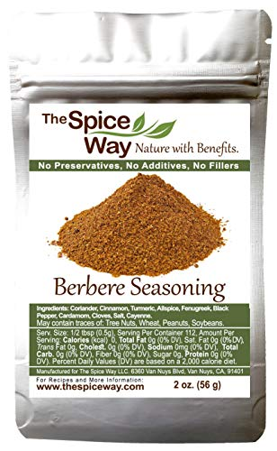 The Spice Way Ethiopian Berbere – Mildly Hot Ethiopian Traditional Spice Blend. No Additives, No Preservatives, No Fillers, just spices we grow in our farm Resealable Bag 2oz