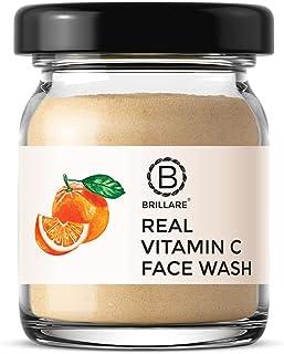 BRILLARE 100% Natural Vitamin C Face Wash for Skin Brightening, Reduces Pigmentation, Dark Spots, Contains Orange and Real...