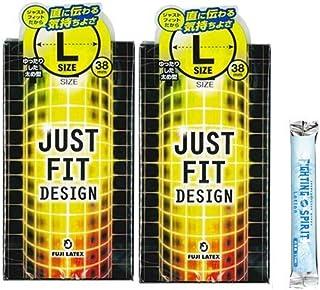 JUSTFIT(ジャストフィット) L x 2 箱セット + ファイティングスピリットローション12mLセット