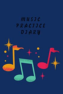 Music Practice Diary: Their Teachers and Funny Music Teacher Calendar Cover and music flash cards for piano/gifts for love...