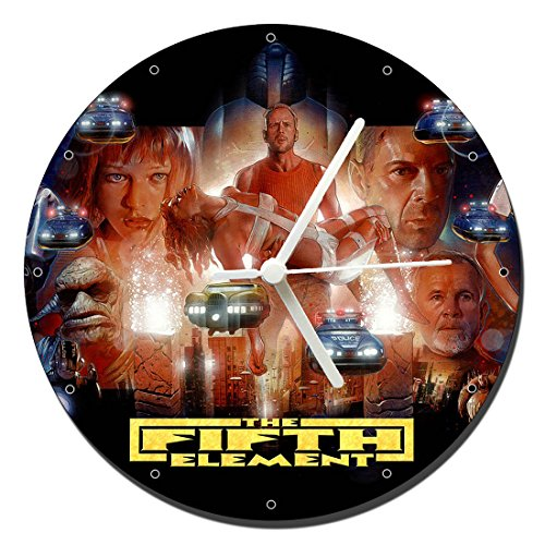 MasTazas El Quinto Elemento The Fifth Element Bruce Willis Milla Jovovich Reloj de Pared Wall Clock 20cm
