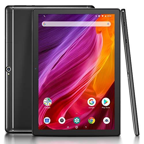 Dragon Touch 10 inch Tablet, 2GB RAM 16GB Storage, Quad-Core Processor, 10.1 IPS HD Display, Micro HDMI, 2019 Android Tablets K10 5G Wi-Fi, Metal Body Black