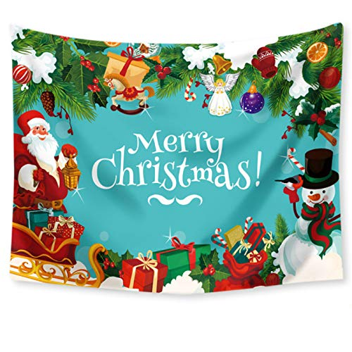 Hey shop Christmas tapestry background cloth decoration red Santa Claus polyester tapestry family room wall decoration