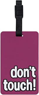 Tangotag Don't Touch! Luggage Tag, Pink, Htc-Tt811
