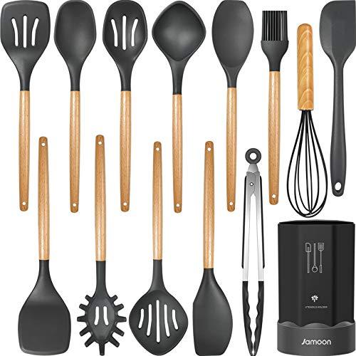 Silicone Cooking Utensils Kitchen Utensil Set Now $15.49