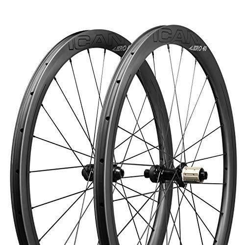 QIQI Bikes AERO 40 Scheibenbremse Carbon Laufräder 40mm Tief Clincher Tubeless Bereit TLR Superleicht 1355g