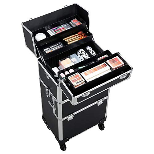 Yaheetech 4 in 1 Rolling Makeup Case review
