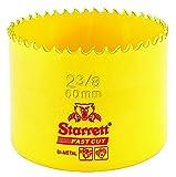 Starrett 63FCH060 Corona perforadora, Amarillo, 60 mm