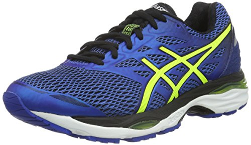 Asics Gel-Cumulus 18, Zapatillas de Running Hombre, Azul (Blue/Yellow), 40.5