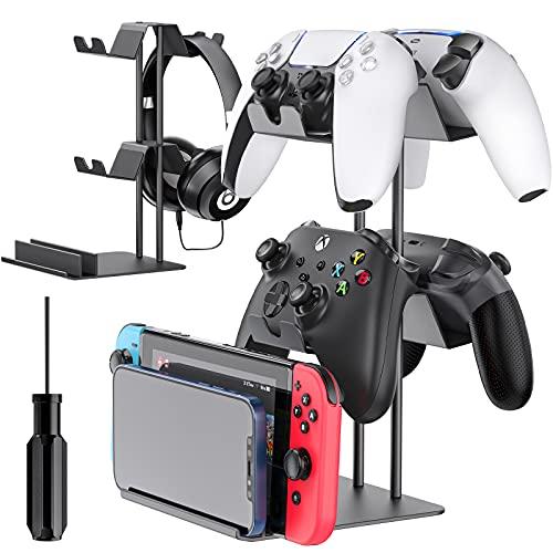 OIVO Soporte universal para mando, soporte para auriculares, soporte para mando para PS5 / PS4 / Xbox / Switch Pro, soporte para auriculares en la mesa para Swtich, teléfono móvil