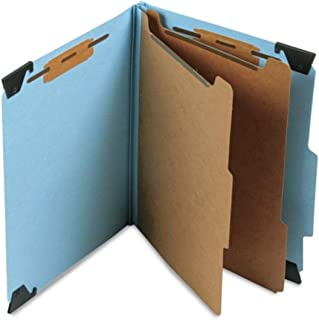 Smead FasTab Hanging Pressboard Classification Folder with SafeSHIELD Fastener, 2 Dividers, 2/5-Cut Built-in Tab, Letter S...