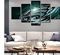 FEISENWLH Five Panel Canvas Painting Native American Football Wall Decoration Philadelphia Eagle Painting Wall Art 5 Pieces Canvas Modern Bedroom Home Decor