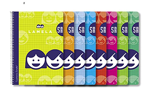 Editorial Lamela 07005 BLOC ESPIRAL 4? CUADROVIA 5MM 40 HOJAS