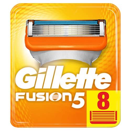 Gillette Fusion 5 Rasierklingen Für Männer, Für Eine Kaum Spürbare Rasur 8 Stück, Briefkastenfähige Verpackung (Verpackung kann variieren)