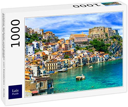 Lais Puzzle Belle spiagge e Città della Calabria - Scilla. Vacanze estive Italiane. 1000 Pezzi