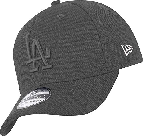 New Era Los Angeles Dodgers 39thirty Stretch Cap Diamond Era Tonal Grey - L-XL
