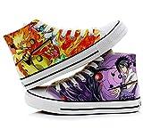 Telacos Naruto Anime Uzumaki Naruto Uchiha Sasuke Cosplay Costume Canvas Shoes Sneakers 1 Men Size 3.5