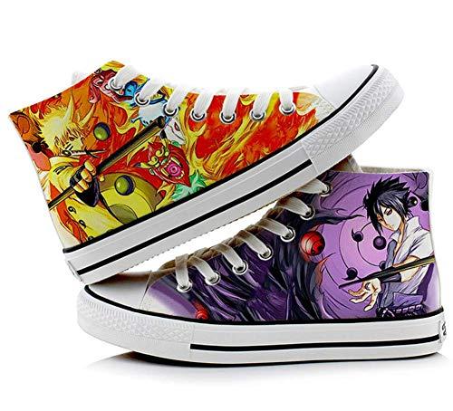 Telacos Naruto Anime Uzumaki Naruto Uchiha Sasuke Cosplay Shoes Canvas Shoes Sneakers 2