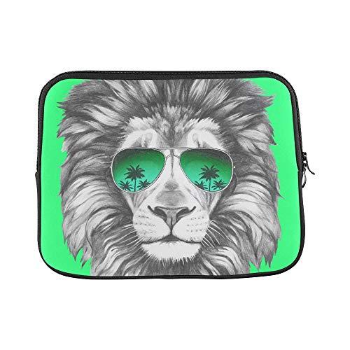WDDHOME Design Benutzerdefinierte Hand gezeichnete Porträt Löwe Sonnenbrille Hülse Weiche Laptop Tasche Tasche Haut Für MacBook Air 11