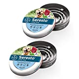 Seresto Flea and Tick Collar for Dogs, 8-Month Flea and Tick Collar for Large Dogs 2 Pack, Over 18 Pounds